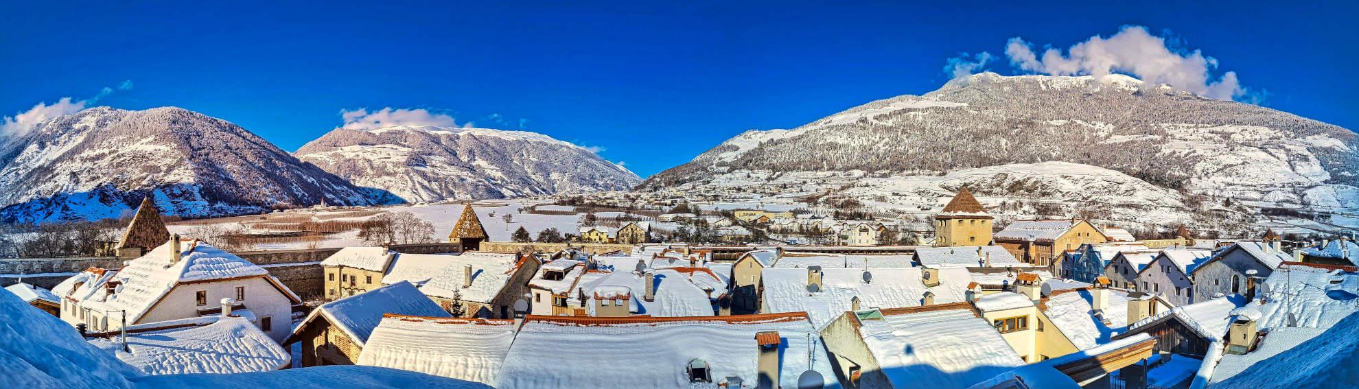 Winterpanorama Glurns