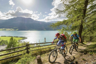 Mountainbiking Lago Resia