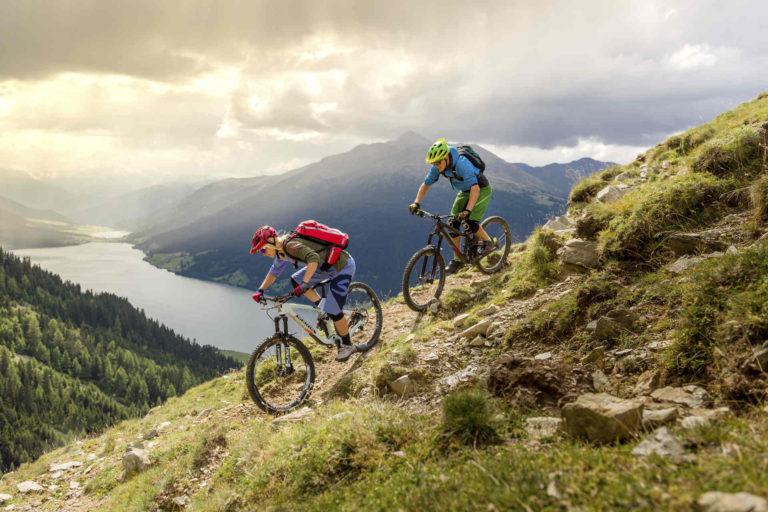Mountainbiking Vinschgau Reschensee