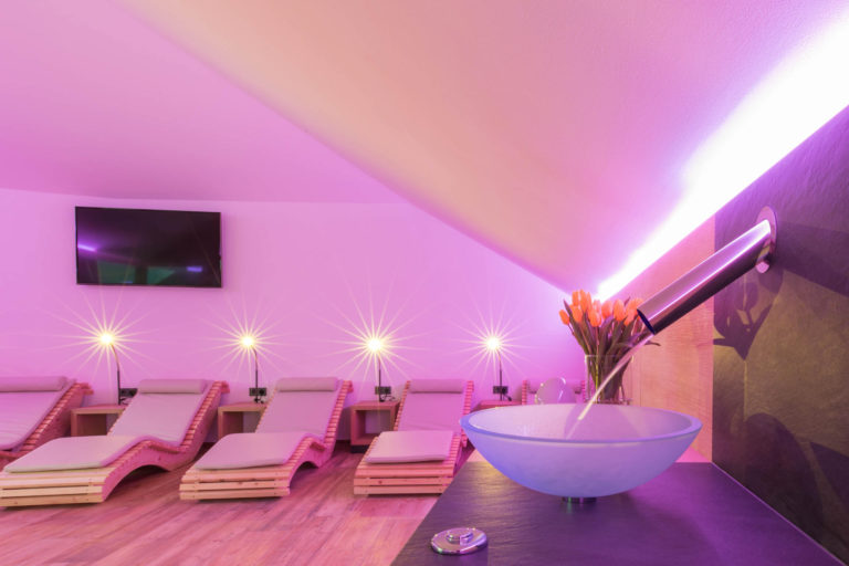 Spa Glurns Belvenu Hotel Sky Lounge Wellnessbereich