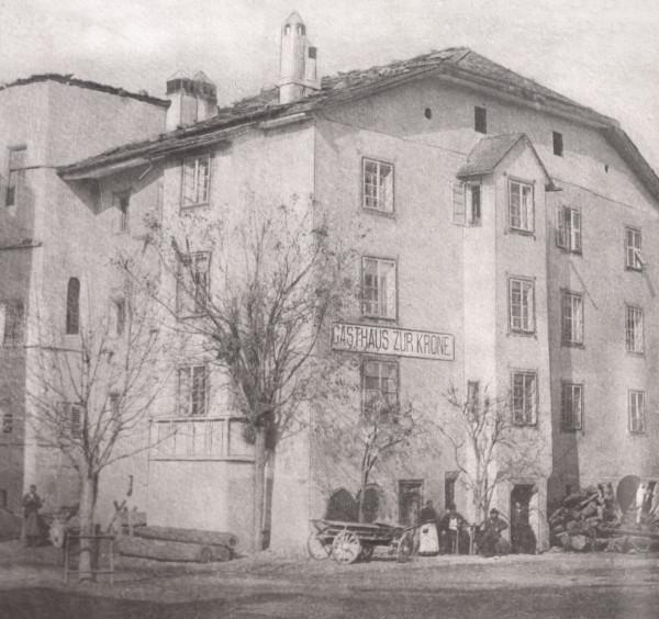 Albergo Krone (oggi Belvenu) a Glorenza